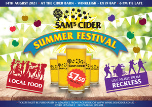 Sam's Cider Summer Festival 14th August 2021