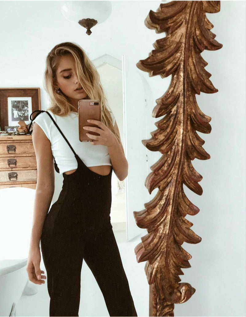 Lace Up Overall Pants