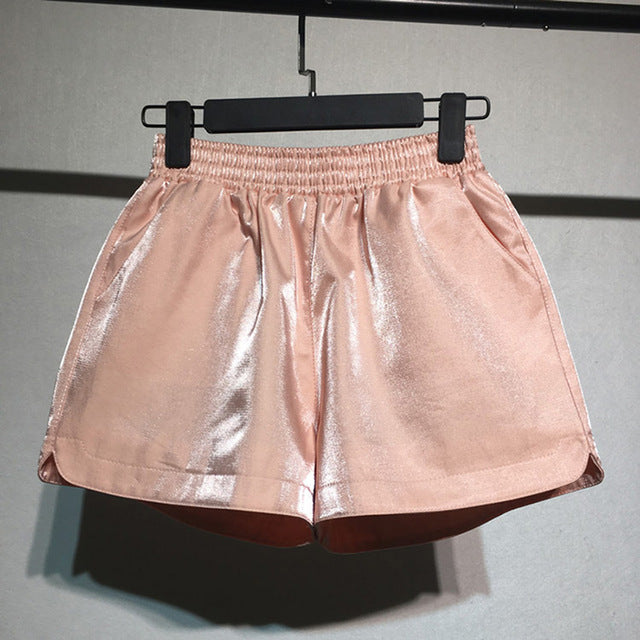 Shiny Velvet Shorts
