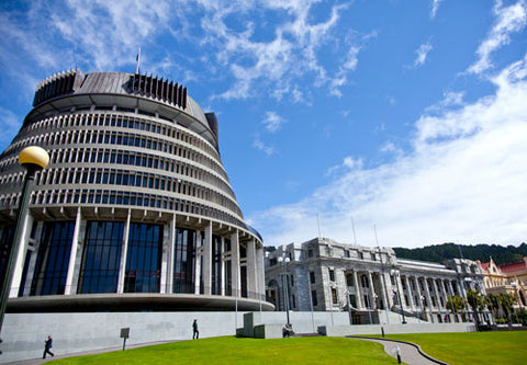 The New Zealand parliament building.