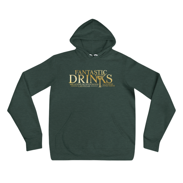Fantastic Drinks And Where To Find Them - A Harry Potter Themed Unisex Hoodie in Heather Forest