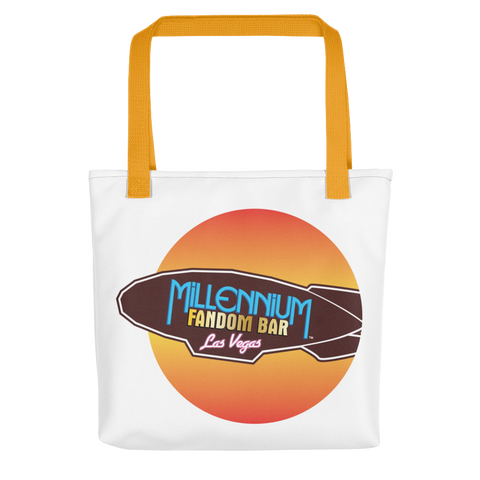 MFB Wormhole - Tote Bag with the Millennium Fandom Bar Logo and Yellow Handle