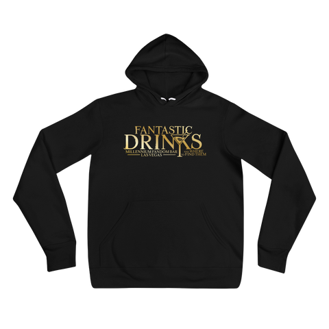 Fantastic Drinks And Where To Find Them - A Harry Potter Themed Unisex Hoodie in Black