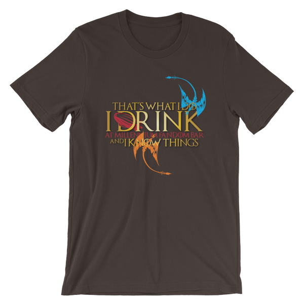 Fandom of Thrones - A Game of Thrones Themed Short-Sleeve Unisex T-Shirt in Brown