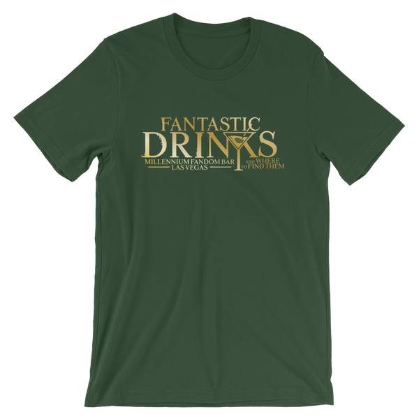 Fantastic Drinks And Where To Find Them - A Harry Potter Themed Short-Sleeve Unisex T-Shirt in Forest