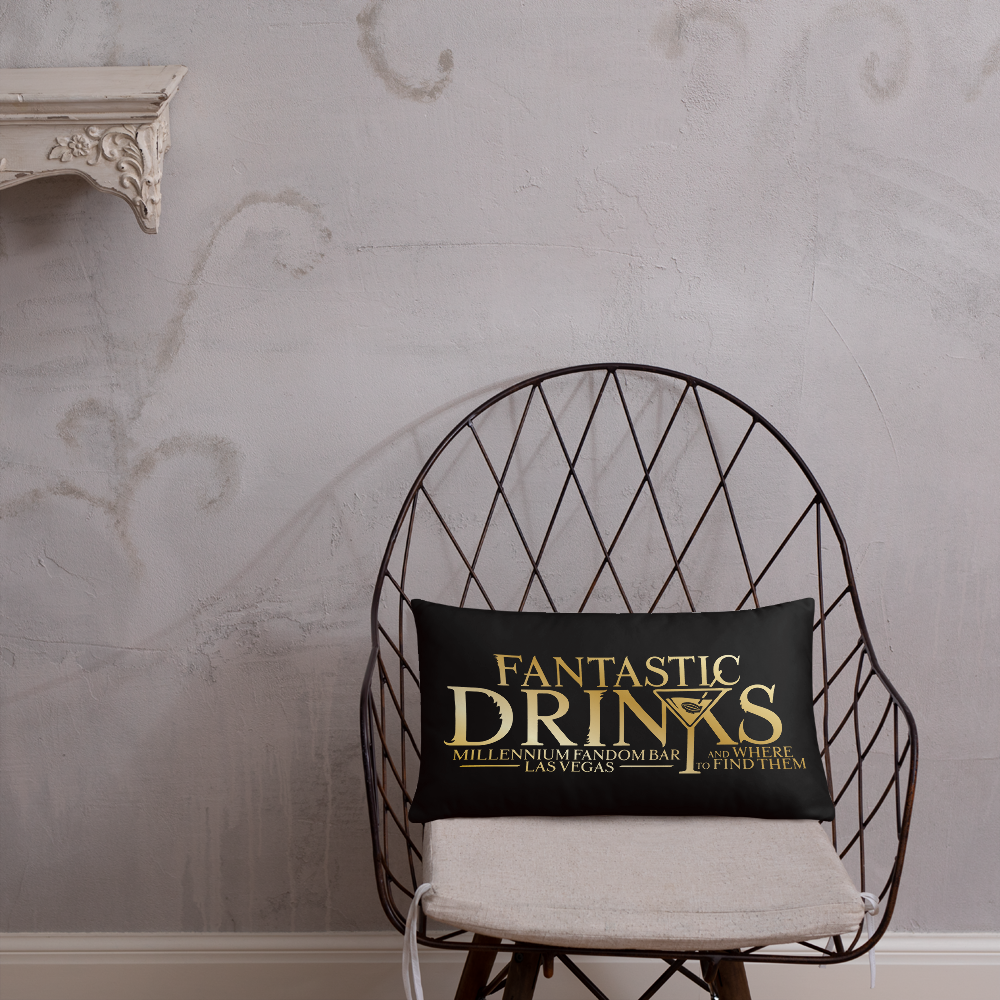 Fantastic Drinks And Where To Find Them - A Harry Potter Themed Basic Pillow in Black