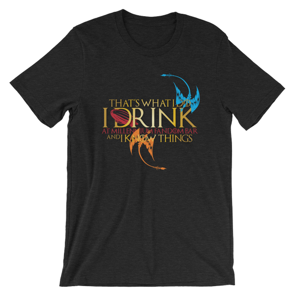 Fandom of Thrones - A Game of Thrones Themed Short-Sleeve Unisex T-Shirt in Black Heather