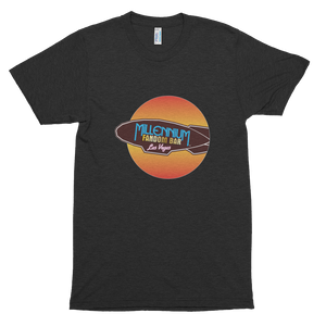 MFB Wormhole - Short-Sleeve T-Shirt with the Millennium Fandom Bar logo, in Charcoal-Black Tri-Blend