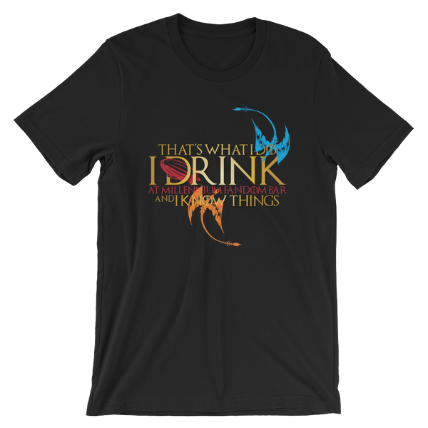 Fandom of Thrones - A Game of Thrones Themed Short-Sleeve Unisex T-Shirt in Black