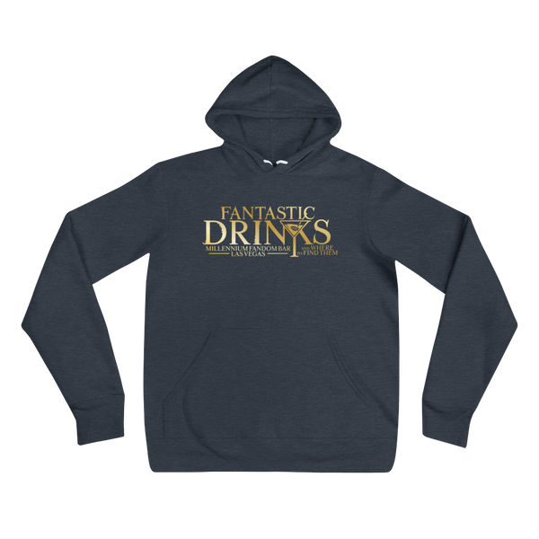 Fantastic Drinks And Where To Find Them - A Harry Potter Themed Unisex Hoodie in Heather Navy