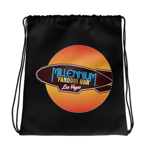 MFB Wormhole - Drawstring Bag with the Millennium Fandom Bar logo, in Black