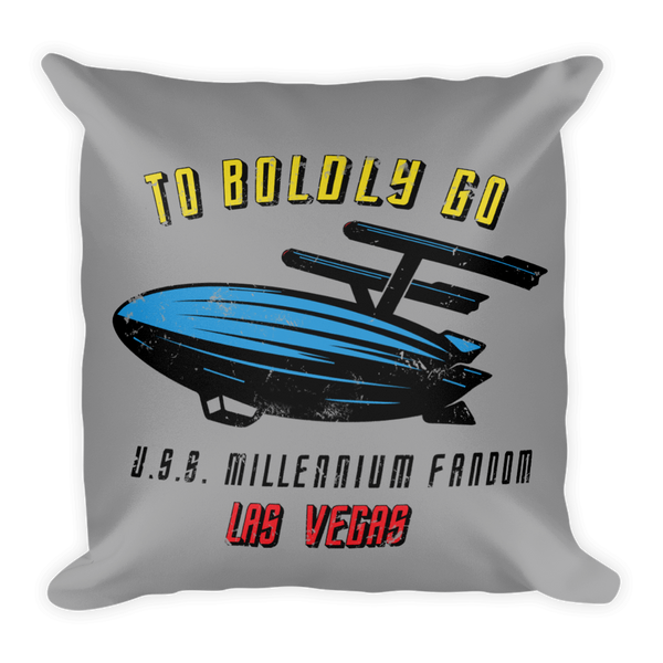 To Boldly Go - A Star Trek Themed Basic Pillow