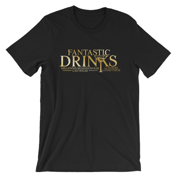 Fantastic Drinks And Where To Find Them - A Harry Potter Themed Short-Sleeve Unisex T-Shirt in Black