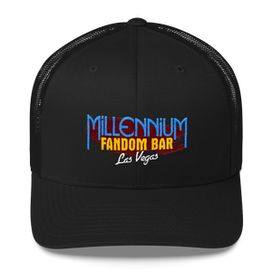 MFB Trucker Cap in Black with the Millennium Fandom Bar Logo