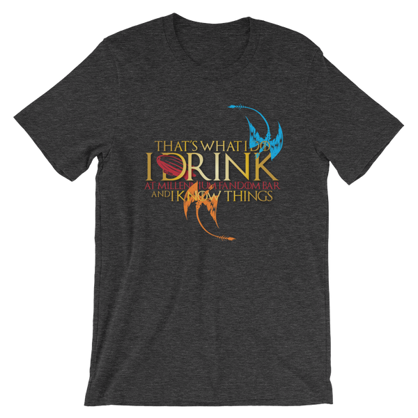 Fandom of Thrones - A Game of Thrones Themed Short-Sleeve Unisex T-Shirt in Dark Grey Heather