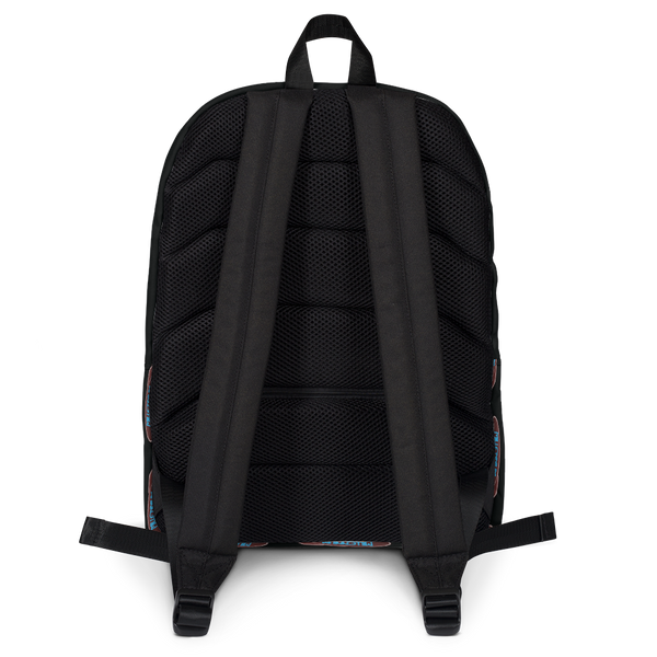 MFB Backpack in Black with the repeat Millennium Fandom Bar Logo