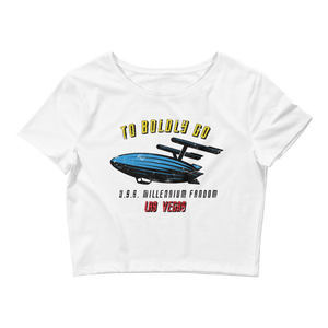 To Boldly Go Women's Crop T-Shirt