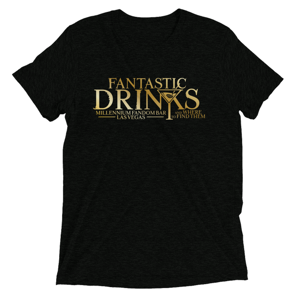 Fantastic Drinks And Where To Find Them - A Harry Potter Themed Short-Sleeve T-Shirt Tri-Blend in Black