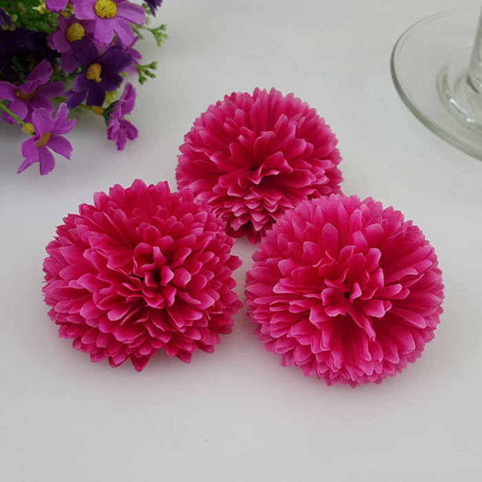 Mini gerbera daisy sunflowers flower heads 4cm silk daisy mini wholesale silk flower silk chrysanthemum 100 flower heads bulk 5cm for background flower corsages kissing balls pomander qcj 35mm mightylinksfo