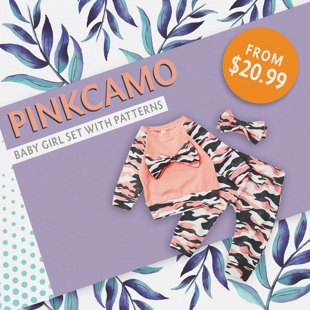 Pink Camouflage Set