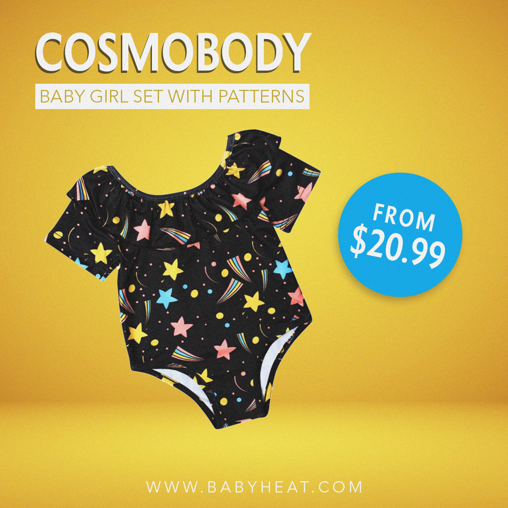 Baby Girl Space Swimsuit