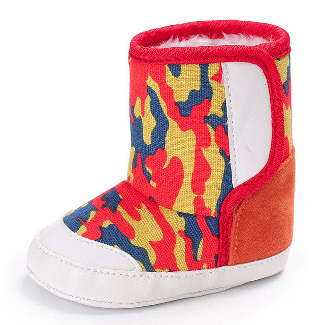 Red Camouflage Boots