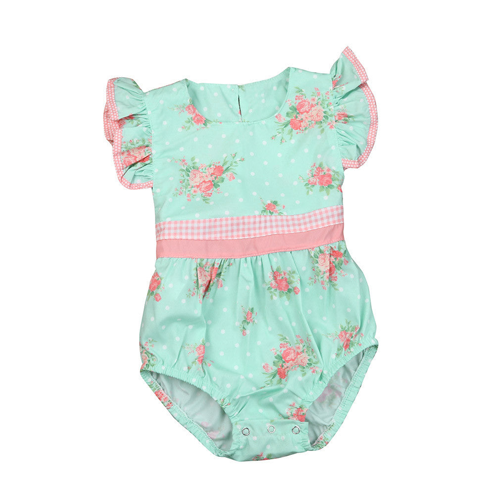 Baby Girls Green Romper
