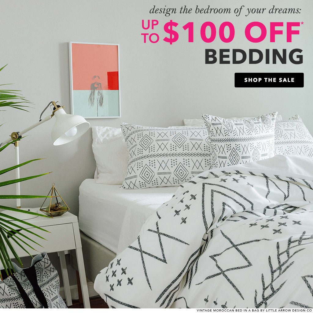 $100 off bedding