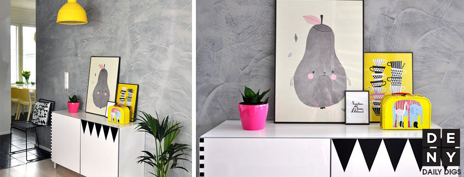 quirky yellow   daily digs   deny designs home accessories