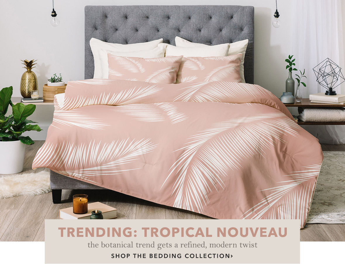 Duvet Covers, Comforters, and Bed In A Bag Sets in the latest Spring 2017 Collection: Tropical Nouveau