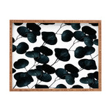 83 Oranges Dark Leaves Rectangular Tray