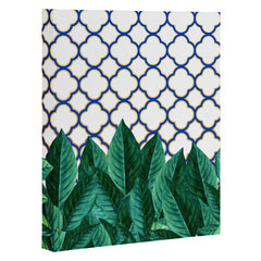 83 Oranges Leaves And Tiles Art Canvas