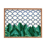 83 Oranges Leaves And Tiles Rectangular Tray