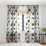 83 Oranges White Pigeons Sheer Window Curtain