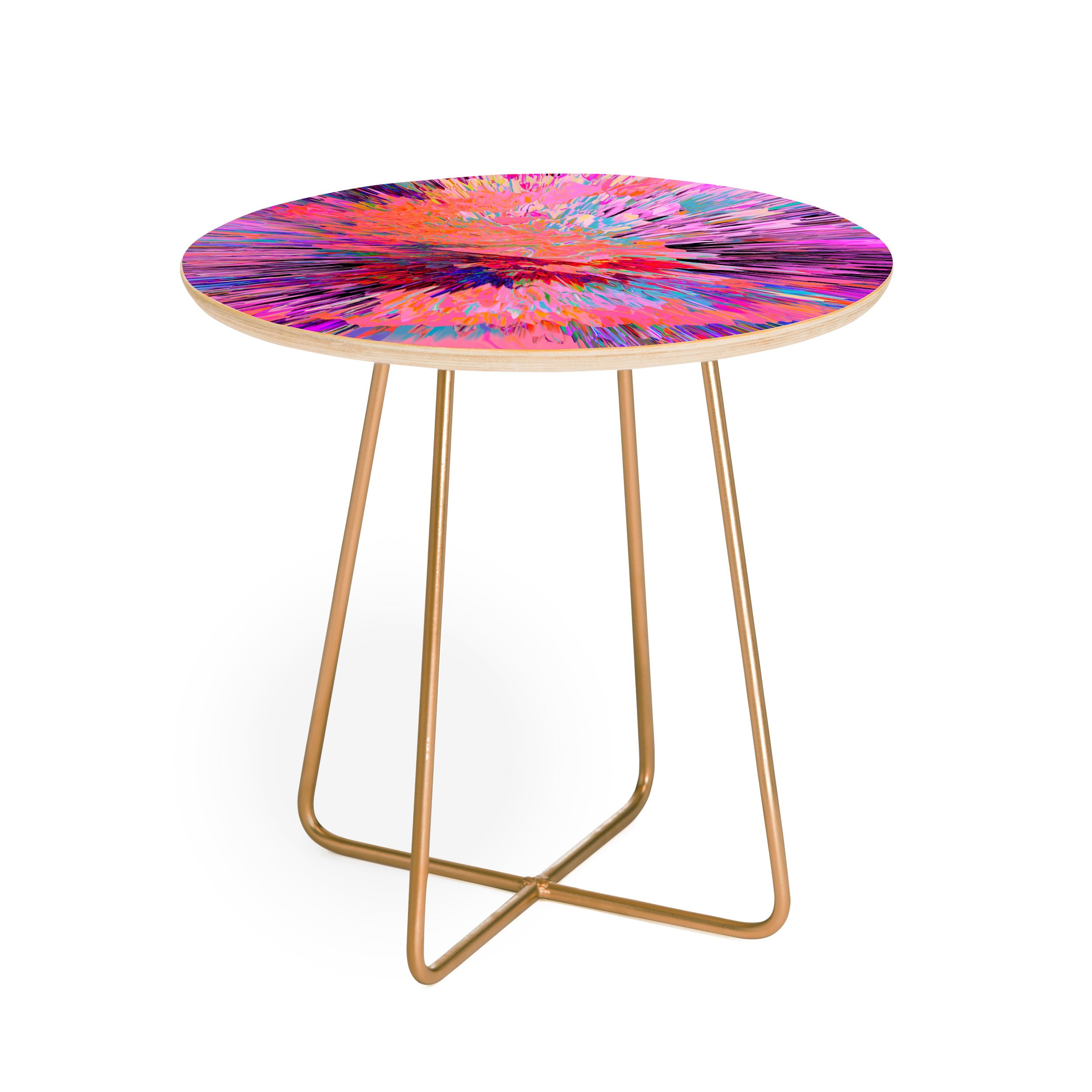 Adam Priester Color Explosion I Round Side Table