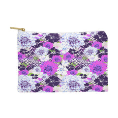 Aimee St Hill Croc And Flowers Blue Pouch