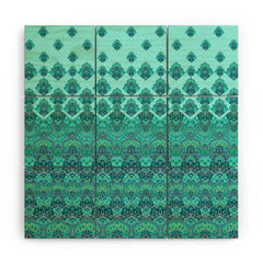 Aimee St Hill Farah Blooms Mint Wood Wall Mural