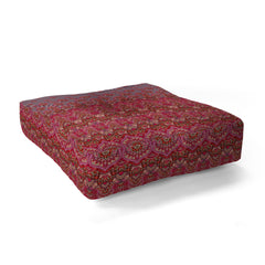 Aimee St Hill Farah Blooms Red Floor Pillow Square