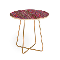 Aimee St Hill Farah Stripe Red Round Side Table
