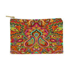 Aimee St Hill Paisley Orange Pouch
