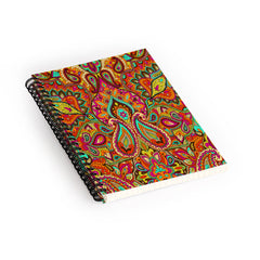 Aimee St Hill Paisley Orange Spiral Notebook