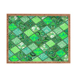Aimee St Hill Patchwork Paisley Green Rectangular Tray