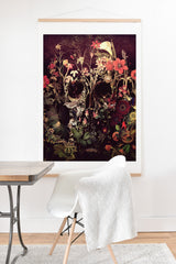 Ali Gulec Bloom Skull Art Print And Hanger