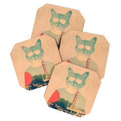 Ali Gulec Cool Cat Coaster Set