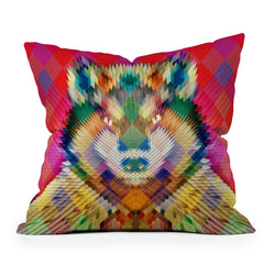 Ali Gulec Corporate Wolf Throw Pillow