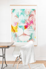 Allyson Johnson Abstract Lion Art Print And Hanger
