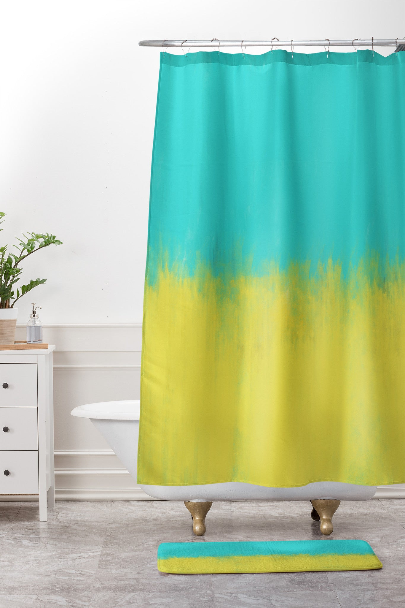 Allyson Johnson Caribbean Shower Curtain And Mat