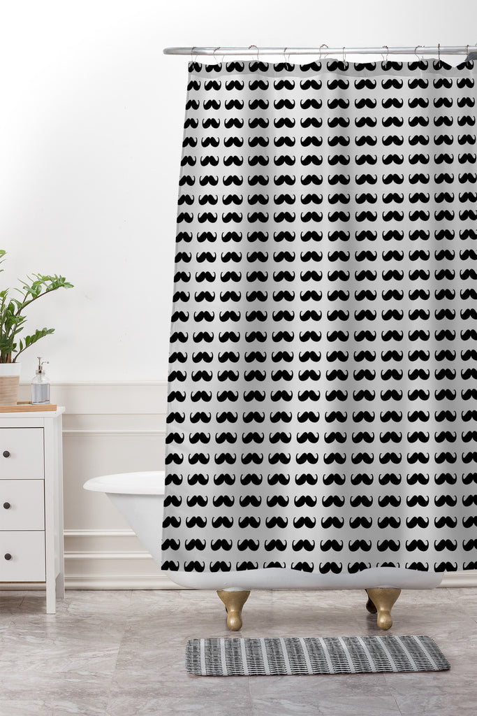 Classy Mustaches Shower Curtain And Mat Allyson Johnson