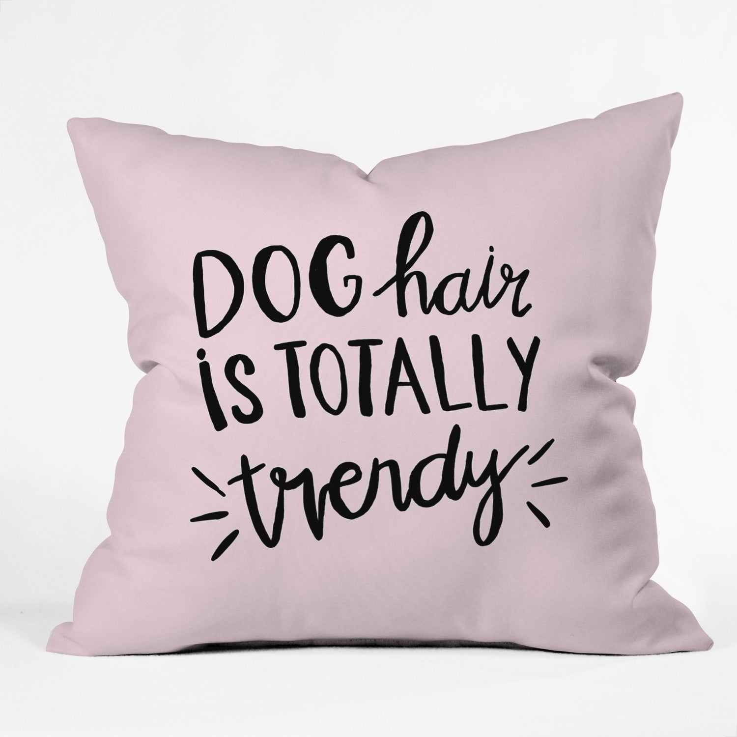 Allyson Johnson Dog hair is trendy Outdoor Throw Pillow