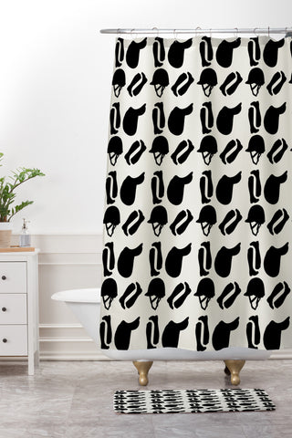 Equestrian Shower Curtain And Mat